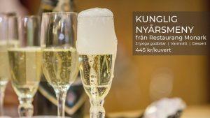 Fira nyår kungligt med Restaurang Monarks meny 2020